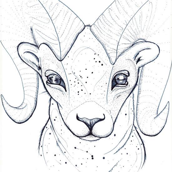 art prints - Zodiac Aries by GoldenDreams Studio