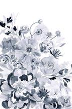 Monochromatic Floral by Yandi Jester