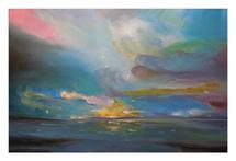 Sunset Over Lake by Janice Rudan