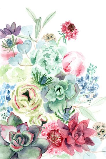 art prints - Succulent bouquet by Yandi Jester