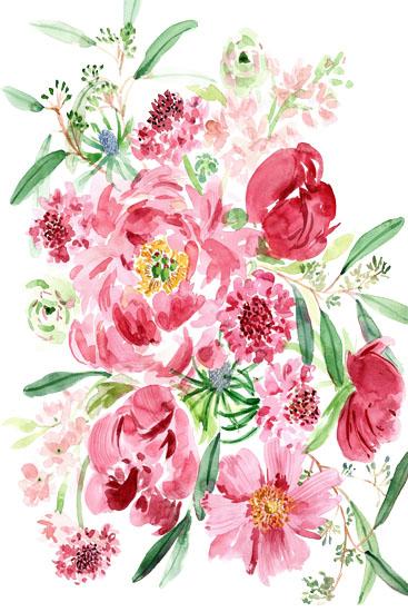 art prints - Pink floral by Yandi Jester