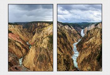Yellowstone Falls Diptych
