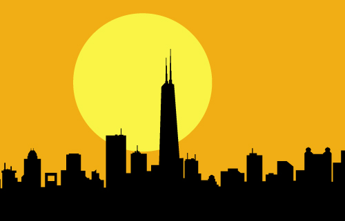 art prints - Morning Chicago Sunrise by Samiran Sarkar