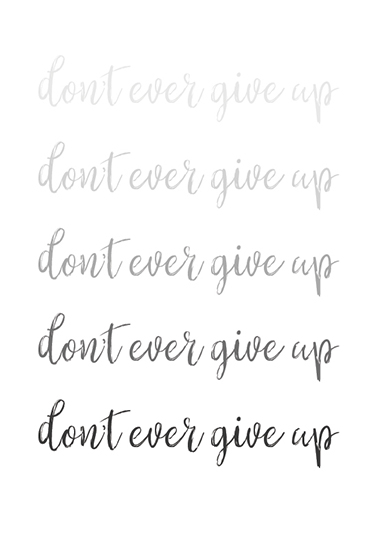 art prints - don't ever give up by Marcie Adams