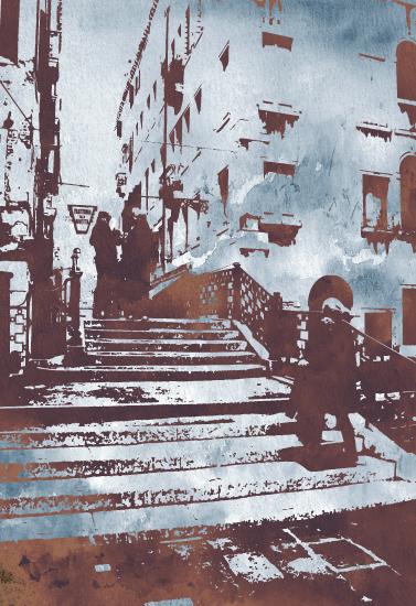 art prints - Venice walk by Phill Taffs