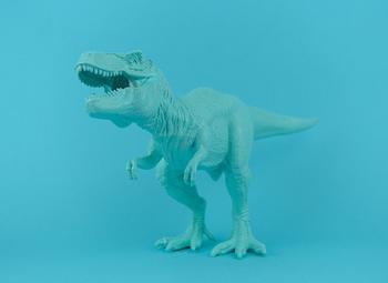 Dinosaur on Blue