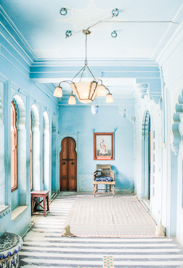 art prints - The City of Blue, Interior by Kira Noel Oschipok