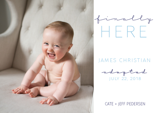 birth announcements - Finally Here by Evelyn Madison