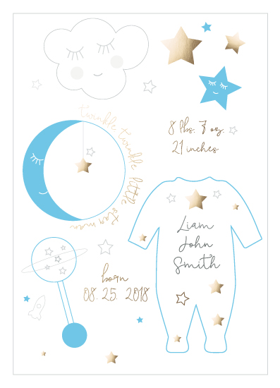 birth announcements - Twinkle Twinkle Little Star Man by Marcie Adams