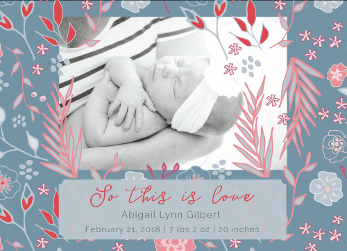 birth announcements - So this is Love by Harmony Cornwell