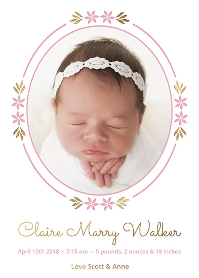 birth announcements - Spring baby by tktinted