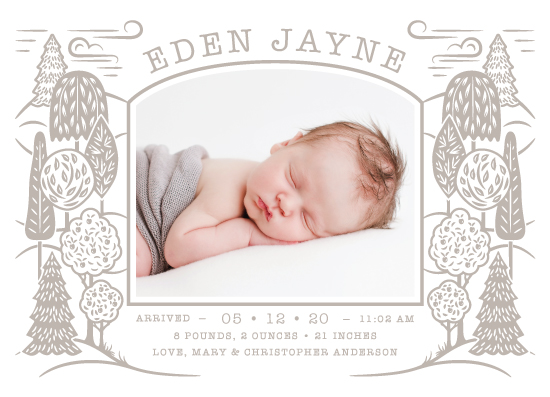 birth announcements - On the Tree Top by Paper Sun Studio