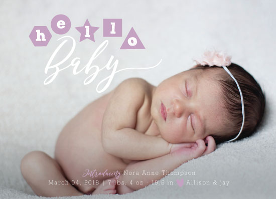 birth announcements - hello-baby by Sarah Stoicich