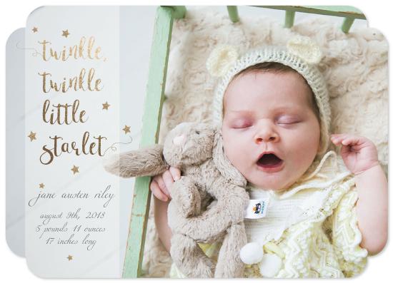 birth announcements - Twinkle Twinkle Little Starlet by Marcie Adams