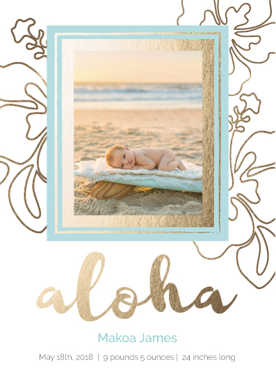 birth announcements - Aloha by Marcie Adams