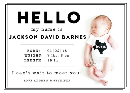 birth announcements - Hello Baby Border by Michayla Pearson