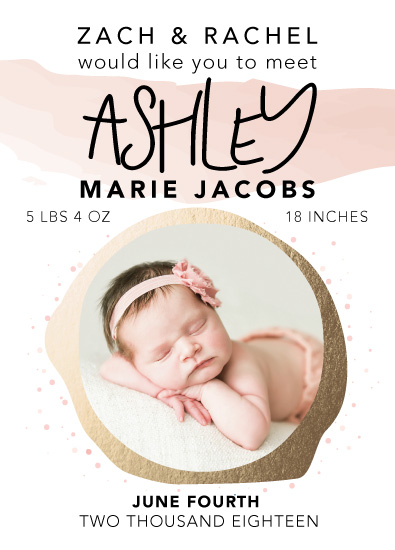 birth announcements - Golden Circle Baby by Michayla Pearson