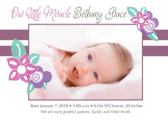 birth announcements - Blessed Girl Birth by Kristen Niedzielski