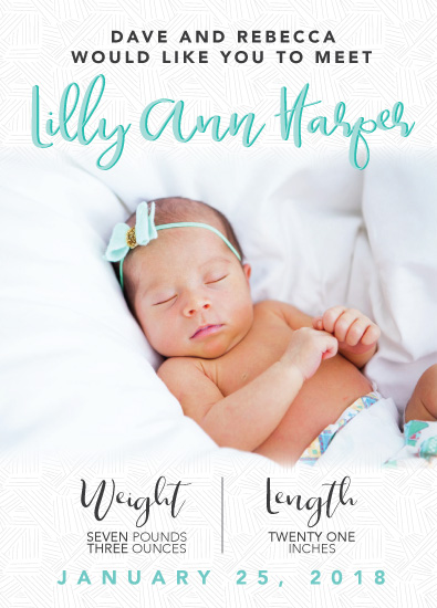 birth announcements - It was MINT to be by Michayla Pearson