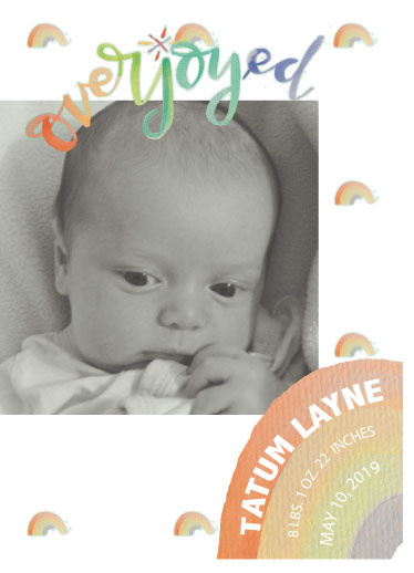 birth announcements - Rainbows are promises kept by Kendra Stanton Lee