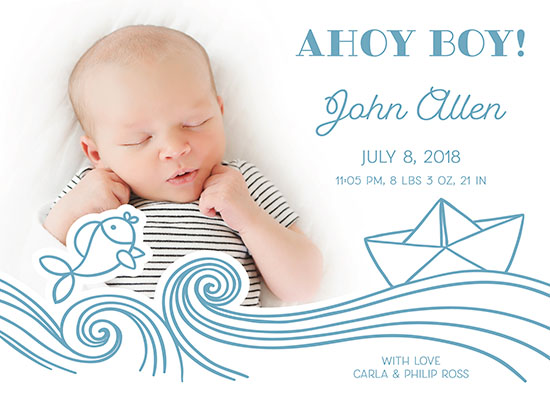 birth announcements - Ahoy boy! by tktinted