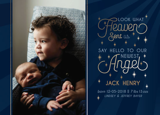 birth announcements - Heaven Sent an Angel by Debbie Quist