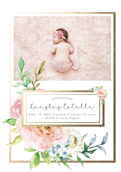birth announcements - Peaceful Bouquet by Karen Holcombe