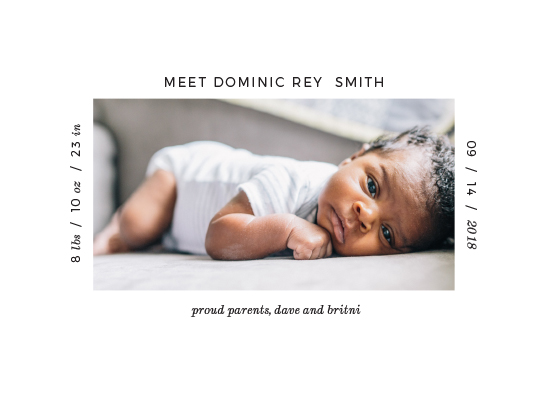 birth announcements - Minimally Perfect by Mint and Merit