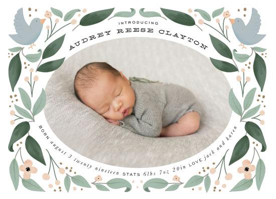birth announcements - Little Birdie by Leah Bisch