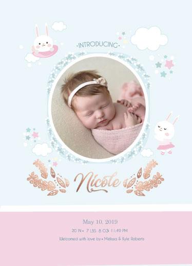 birth announcements - birth announcements bunny spring colors by Jorzheema Hamid