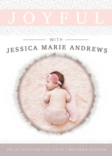 birth announcements - Joyful Baby by Michayla Pearson