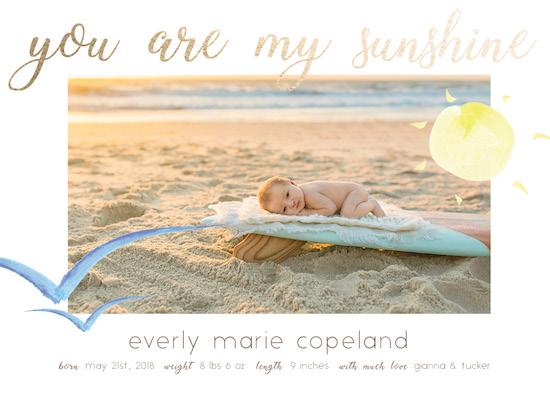 birth announcements - My Sunshine by Jacquelyn Kellar