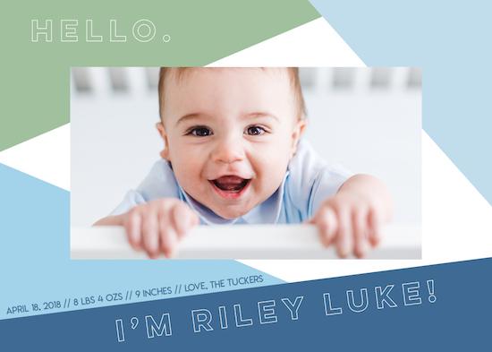 birth announcements - Little Boy Blue by Jacquelyn Kellar