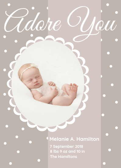 birth announcements - Adore You by Nadia Irianto