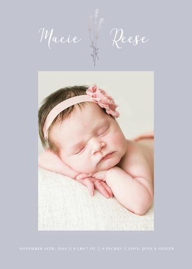 birth announcements - Soft Lavender by Jacquelyn Kellar