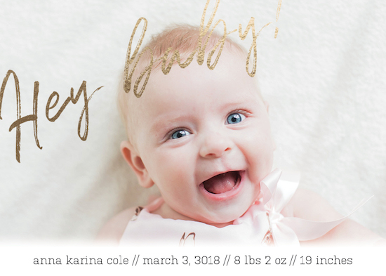 birth announcements - Hey There by Jacquelyn Kellar