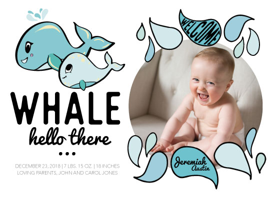 birth announcements - Whale Hello There... by Dane Great Designs