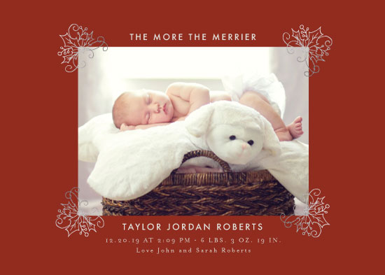birth announcements - The more the merrier by Danielle Ellan