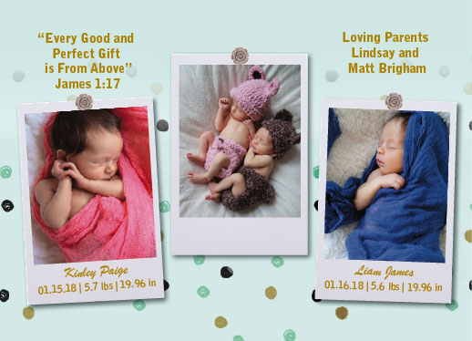 birth announcements - Polaroid birth announcement by Jennifer Warren
