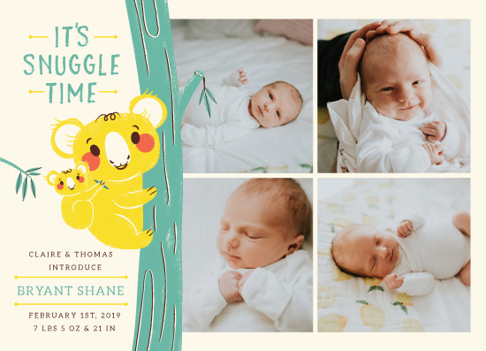 birth announcements - Koala Snuggle by Marie Hermansson