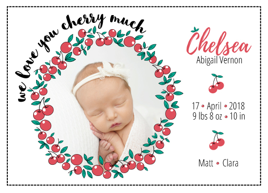 birth announcements - We Love You Cherry Much by Nadia Irianto