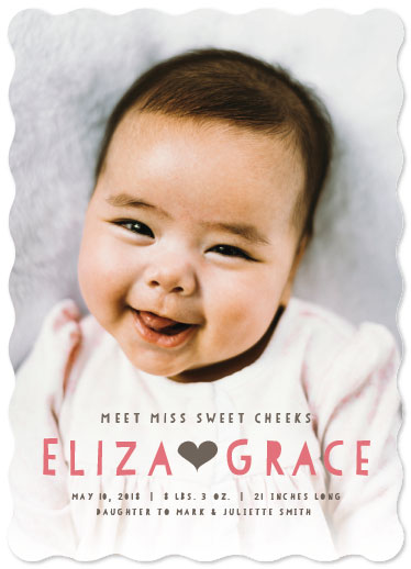 birth announcements - Miss Sweet Cheeks by Sarah Teske