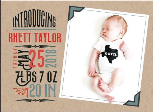 birth announcements - Texas Bred by Karen Holcombe
