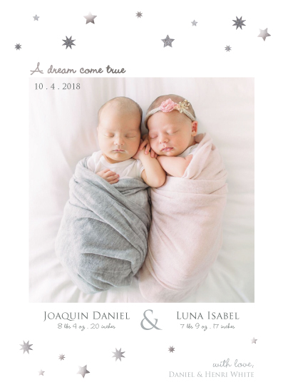 birth announcements - A dream come true by Henri Martinez