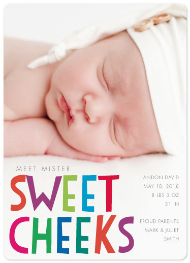 birth announcements - Sweet Cheeks by Sarah Teske