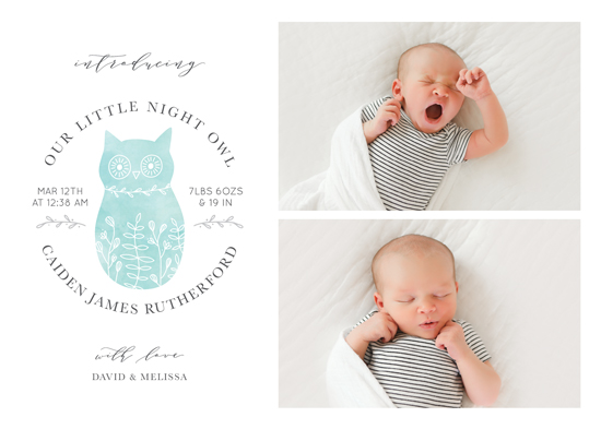 birth announcements - Night Owl by Brandy Folse