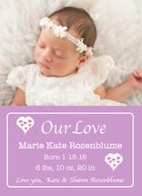 Pink Hearts Baby by Kristen Niedzielski