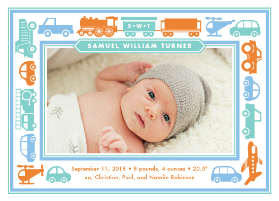 birth announcements - On The Move by Wildbrook Press
