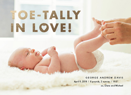 birth announcements - Toe-tally In Love! by Wildbrook Press