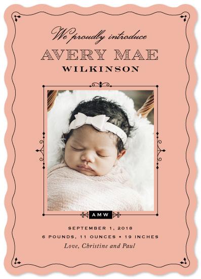 birth announcements - Vintage Hello by Wildbrook Press